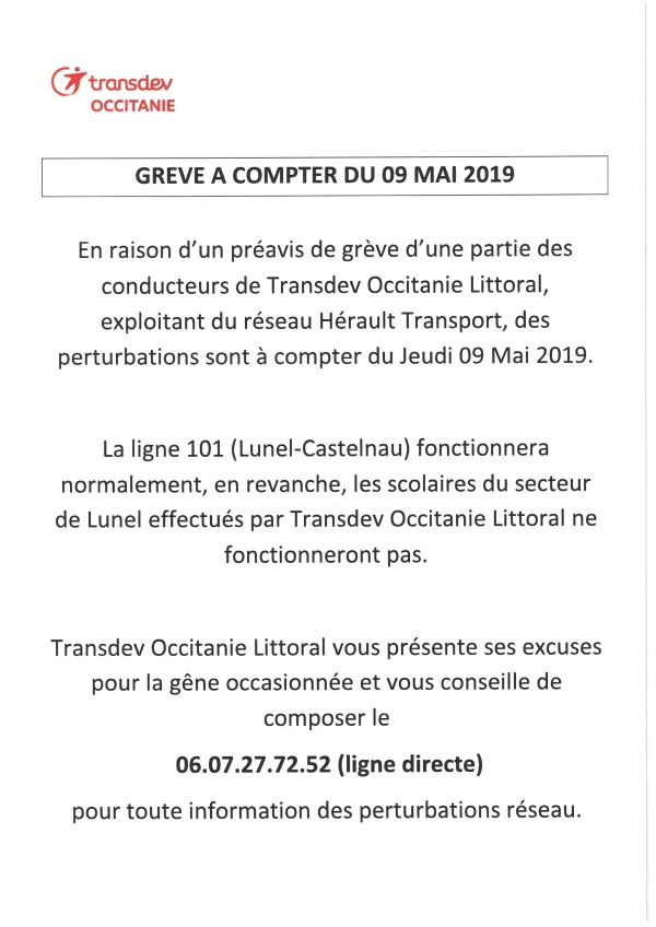 Gréve transport 09 05 2019