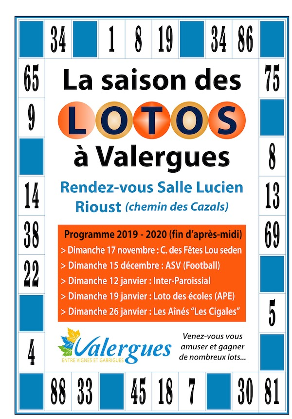 Les lotos 2019 Valergues OK