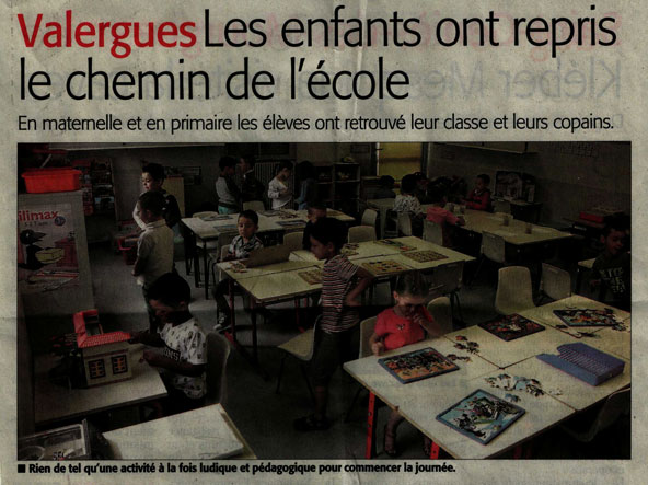 Midi libre Rentree des classes